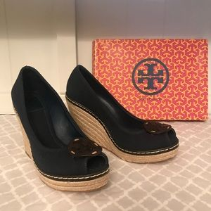 Tory Burch Canvas Wedges